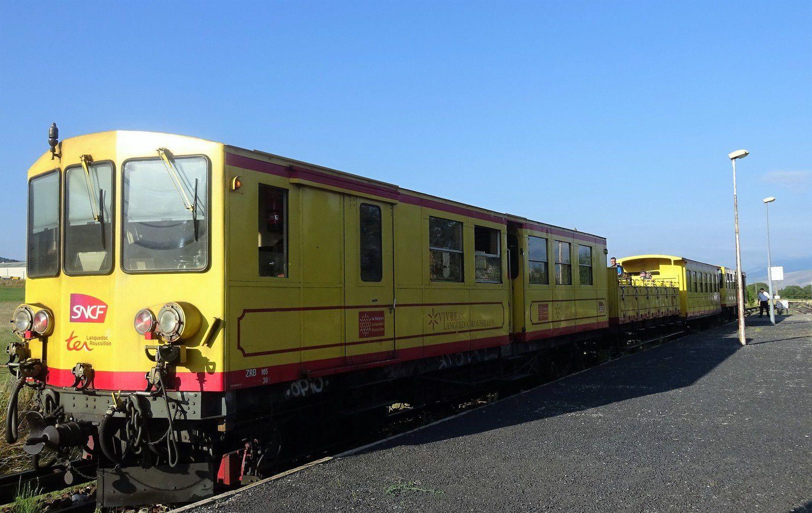 5 ème  jour : On prend le célèbre petit train jaune.