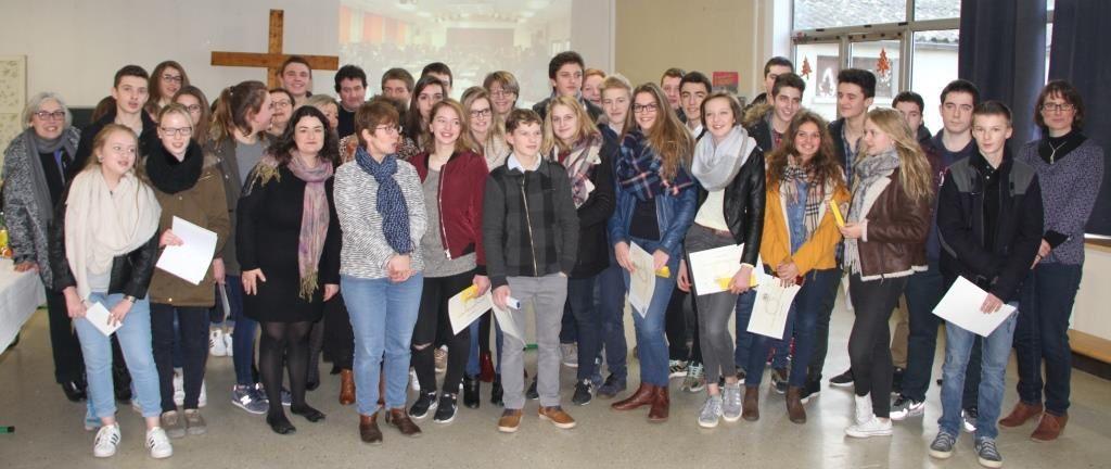 Remise des diplômes du Brevet des collèges - session 2015