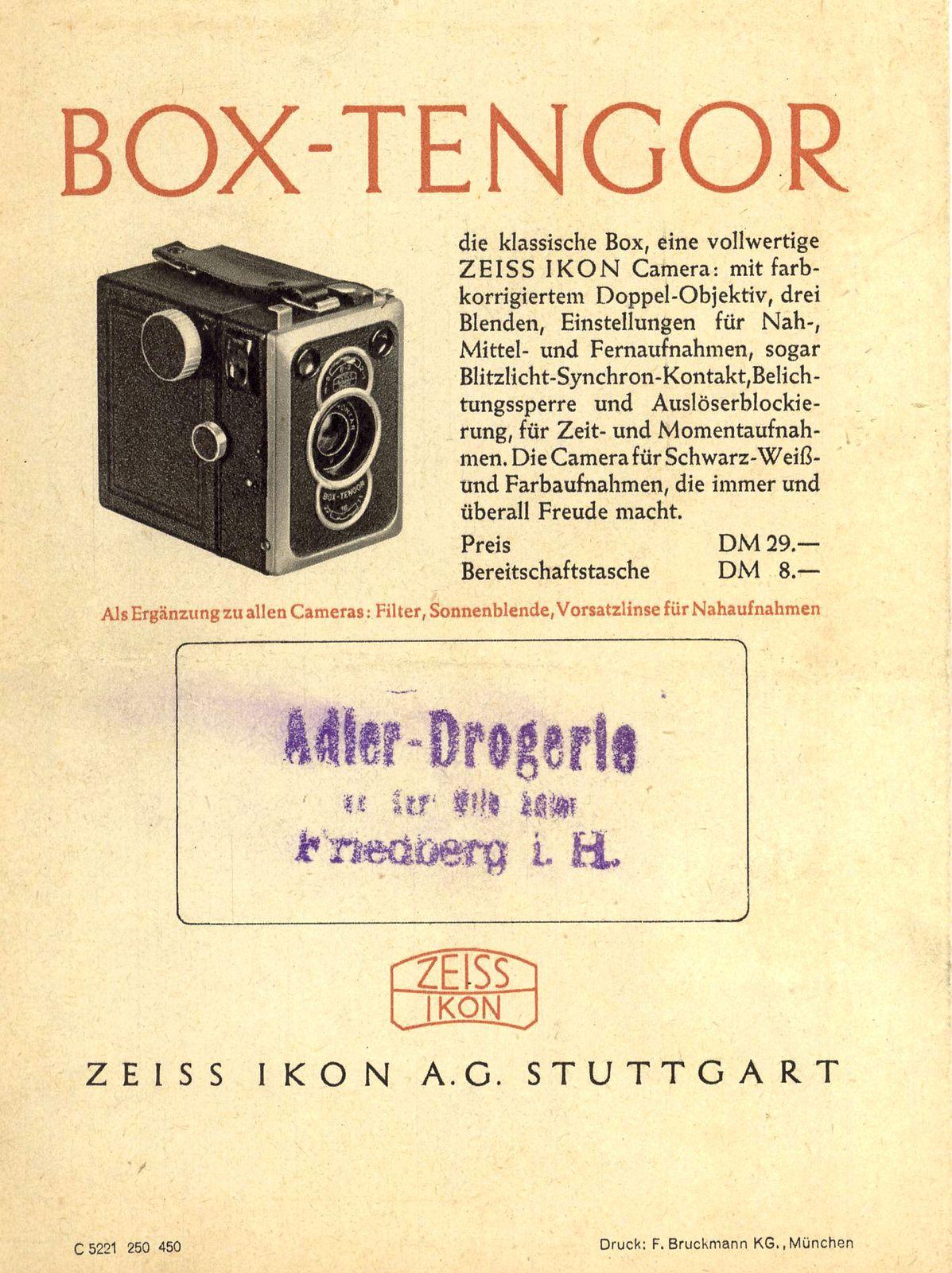 Zeiss-Ikon, Box Tengor : partie 2