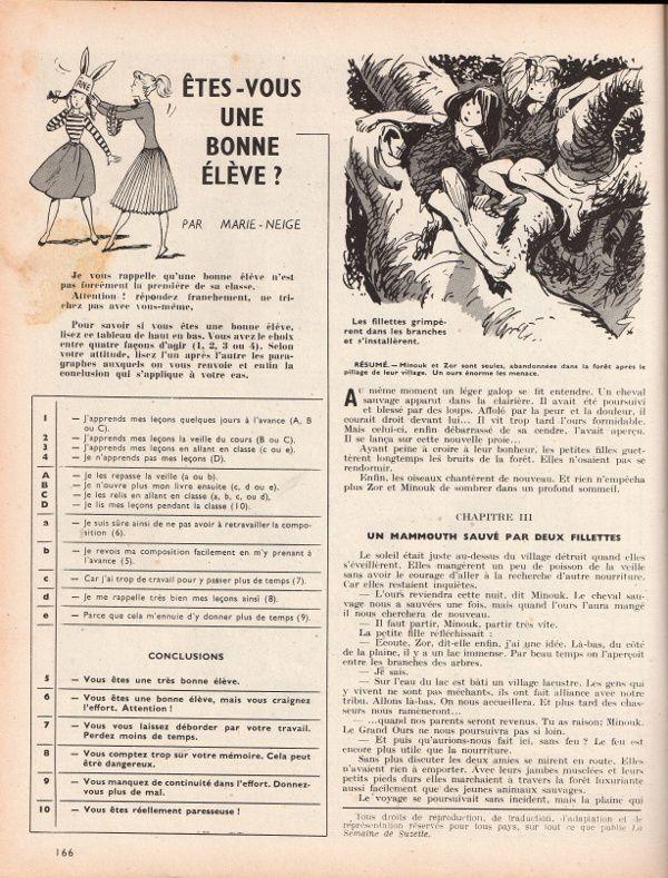 """Clara [Henriette Robitaillie] """"Minouk, l'amie du Mammouth"""" (1956) [2/4]"""