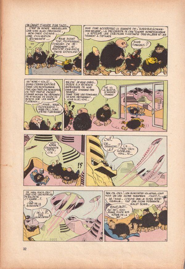 """Jijé """"Blondin et Cirage découvrent les Soucoupes Volantes"""" (Dupuis - 1956)"""