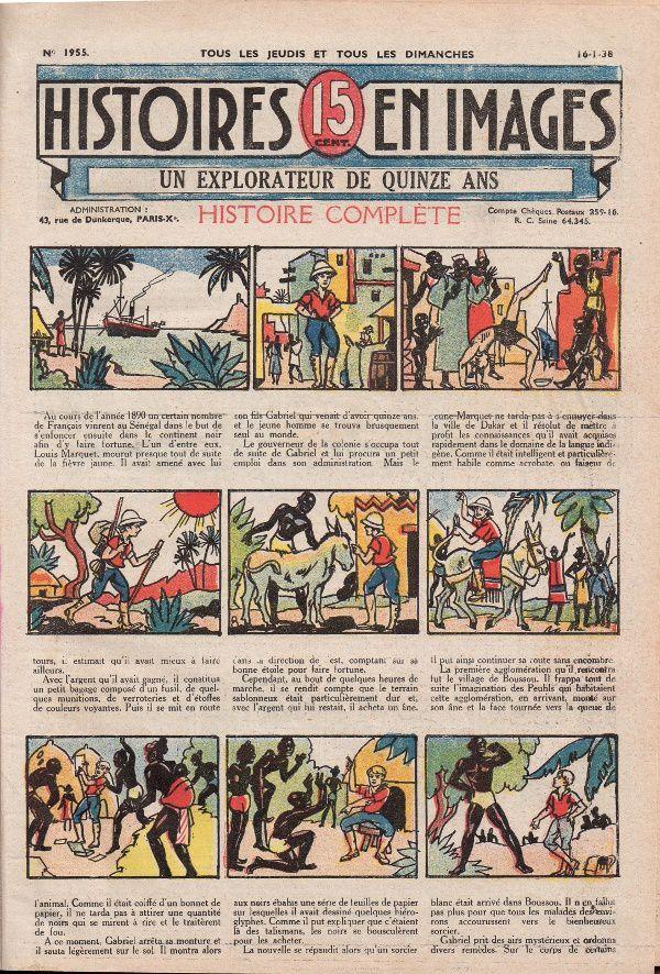 """Guy d'Armen """"Un explorateur de quinze ans"""", illustré par Marjollin (1938)"""