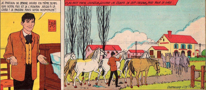 """Paul d'Ivoi """"Les Cinq sous de Lavarède"""" in Journal de Mickey (1961)"""