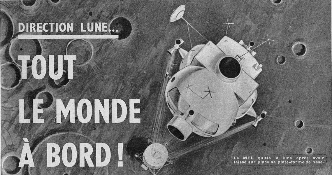 "Anonyme ""Direction Lune... Tout le monde à bord !"" in Le Journal de Mickey n°676 du 9 mai 1965."