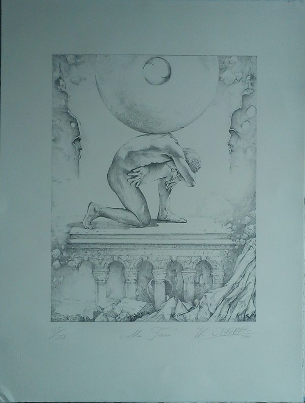 "Wojtek Siudmak - Lithographie ""Ma Terre"" (Pocket - 1999), 350 exemplaires"