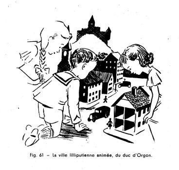 Les automates et les œuvres d'imagination X, par Alfred Chapuis (dessins originaux d'Alex Billeter) in La Fédération horlogère suisse n°4 de septembre 1947