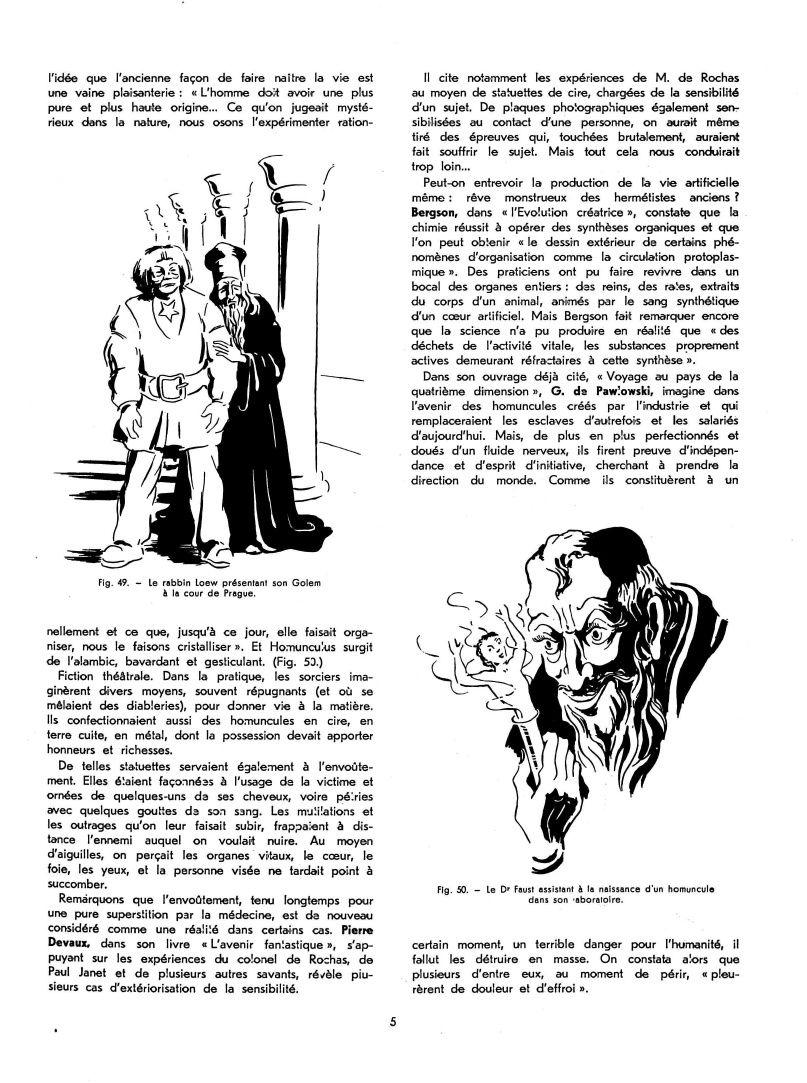 Les automates et les œuvres d'imagination IX, par Alfred Chapuis (dessins originaux d'Alex Billeter) in La Fédération horlogère suisse n°3 de juillet 1947