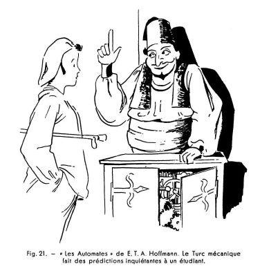 Les automates et les œuvres d'imagination IV, par Alfred Chapuis (dessins originaux d'Alex Billeter) in La Fédération horlogère suisse n°4 de septembre 1946