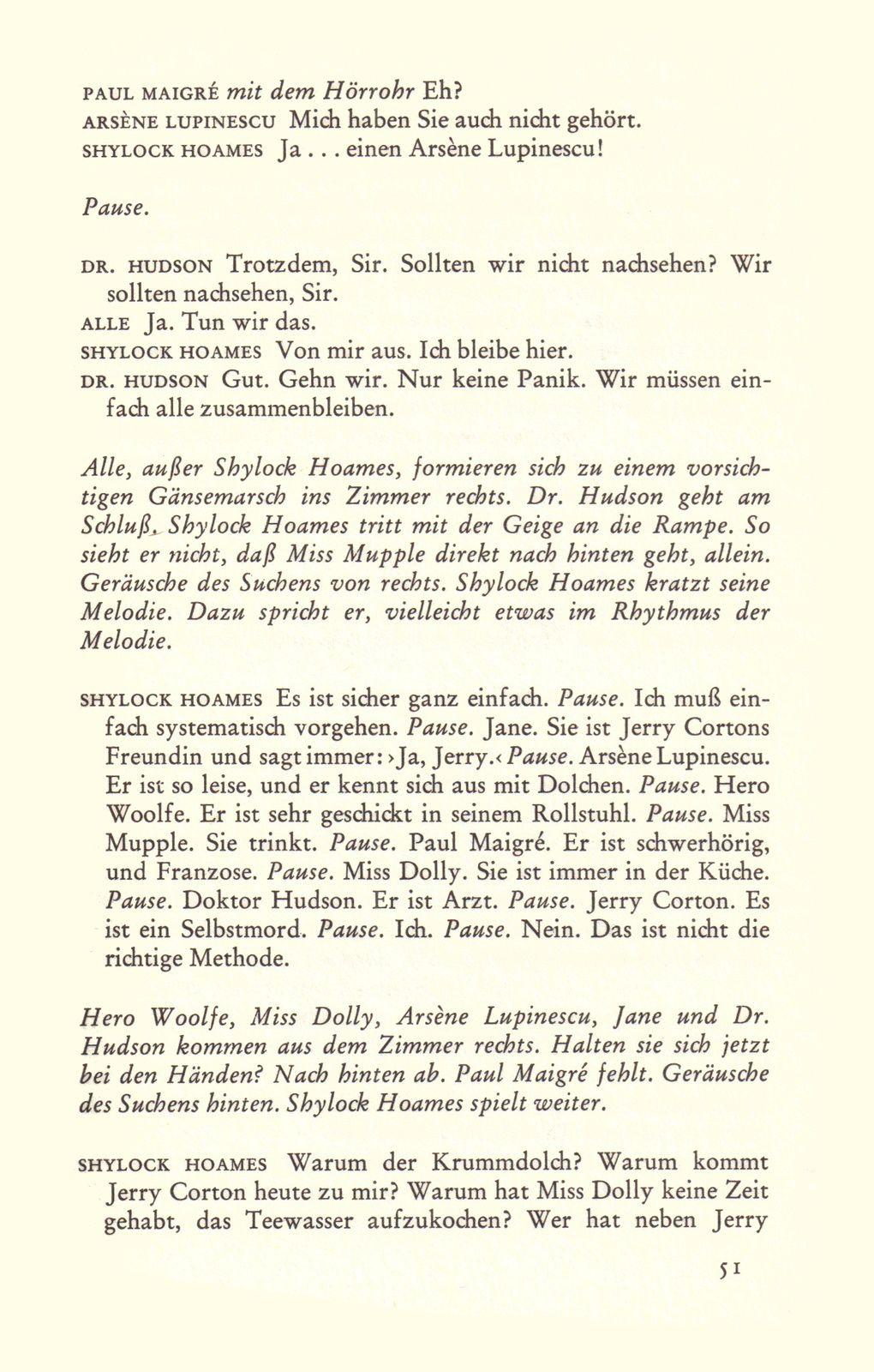 """Urs Widmer """"Die lange Nacht der Detektive. Kiminalstück in drei Akten"""" (Diogenes - 1973)"""