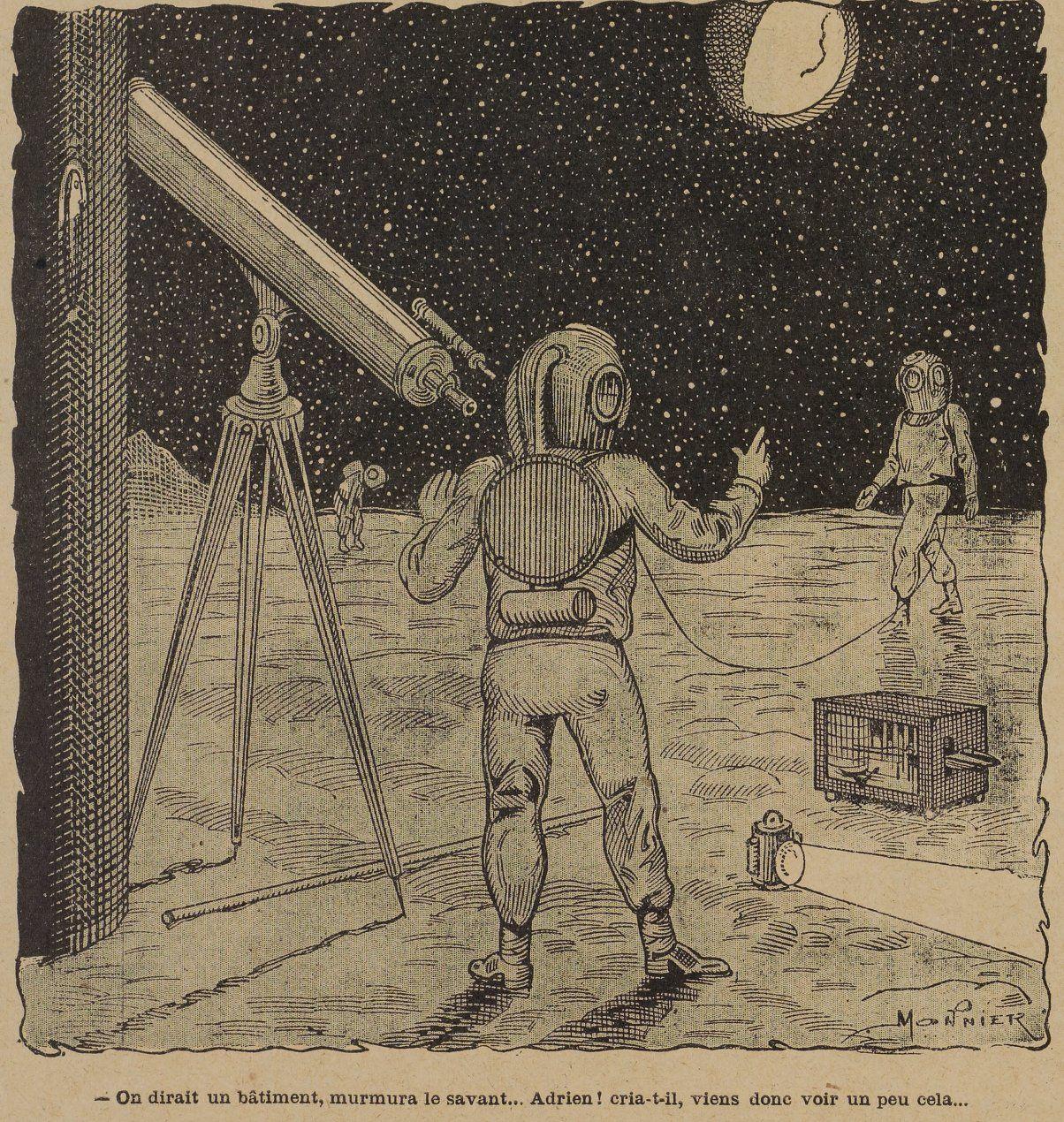Marius Monnier - A quatre-vingt dix mille lieues de la Terre in La Jeunesse illustrée n°190 (14/10/1906)