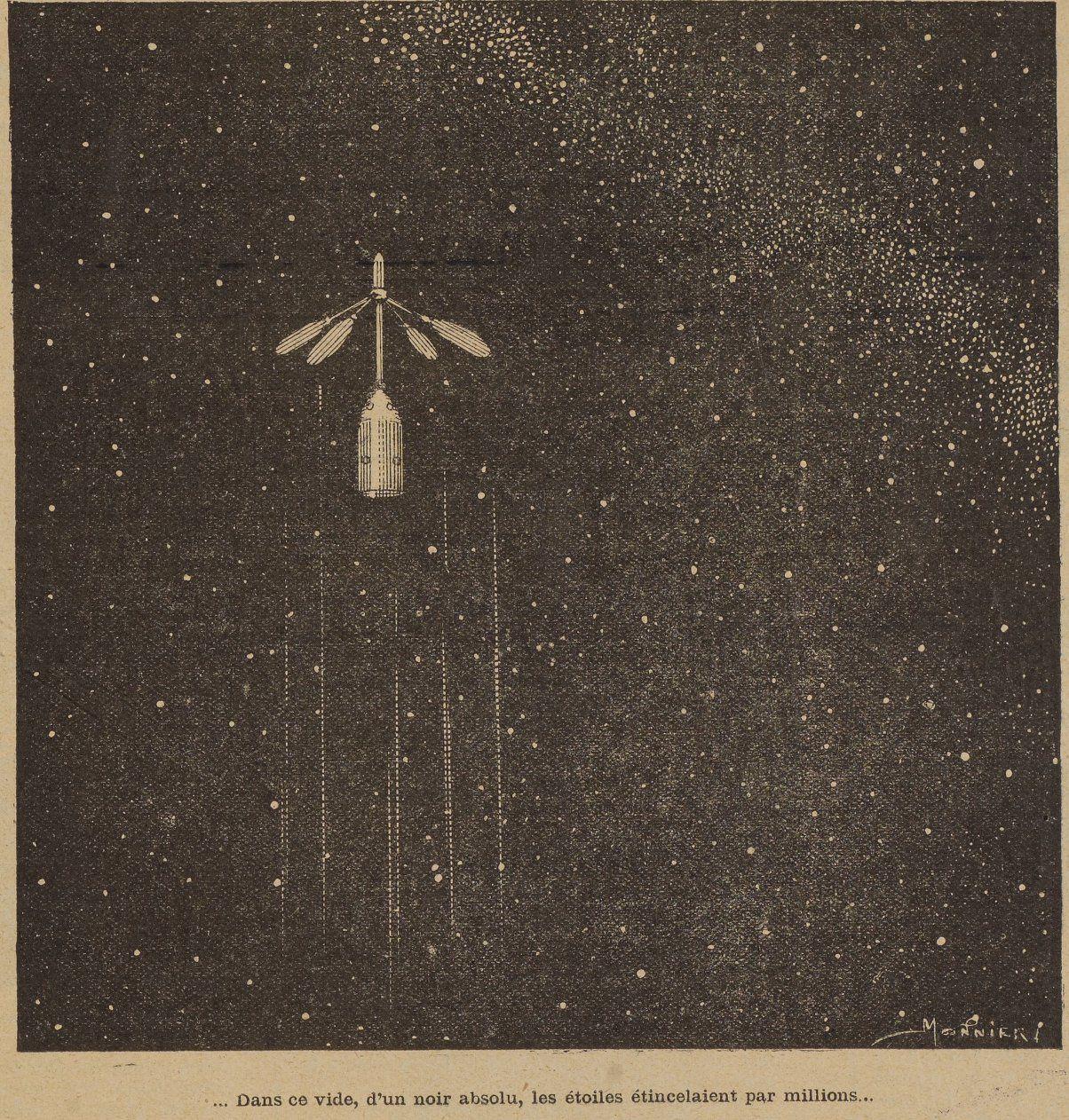 Marius Monnier - A quatre-vingt dix mille lieues de la Terre in La Jeunesse illustrée n°182 (19/08/1906)