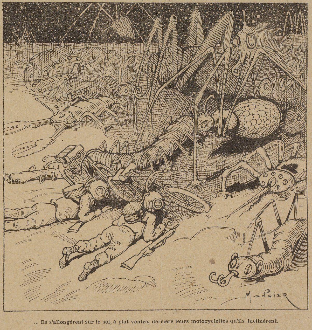 Marius Monnier - A quatre-vingt dix mille lieues de la Terre in La Jeunesse illustrée n°187 (23/09/1906)