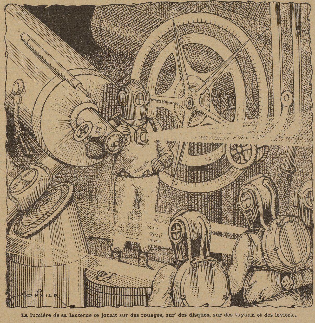 Marius Monnier - A quatre-vingt dix mille lieues de la Terre in La Jeunesse illustrée n°191 (21/10/1906)