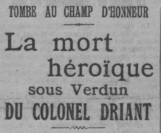 Capitaine Danrit : Tombé au champ d'honneur (1916)