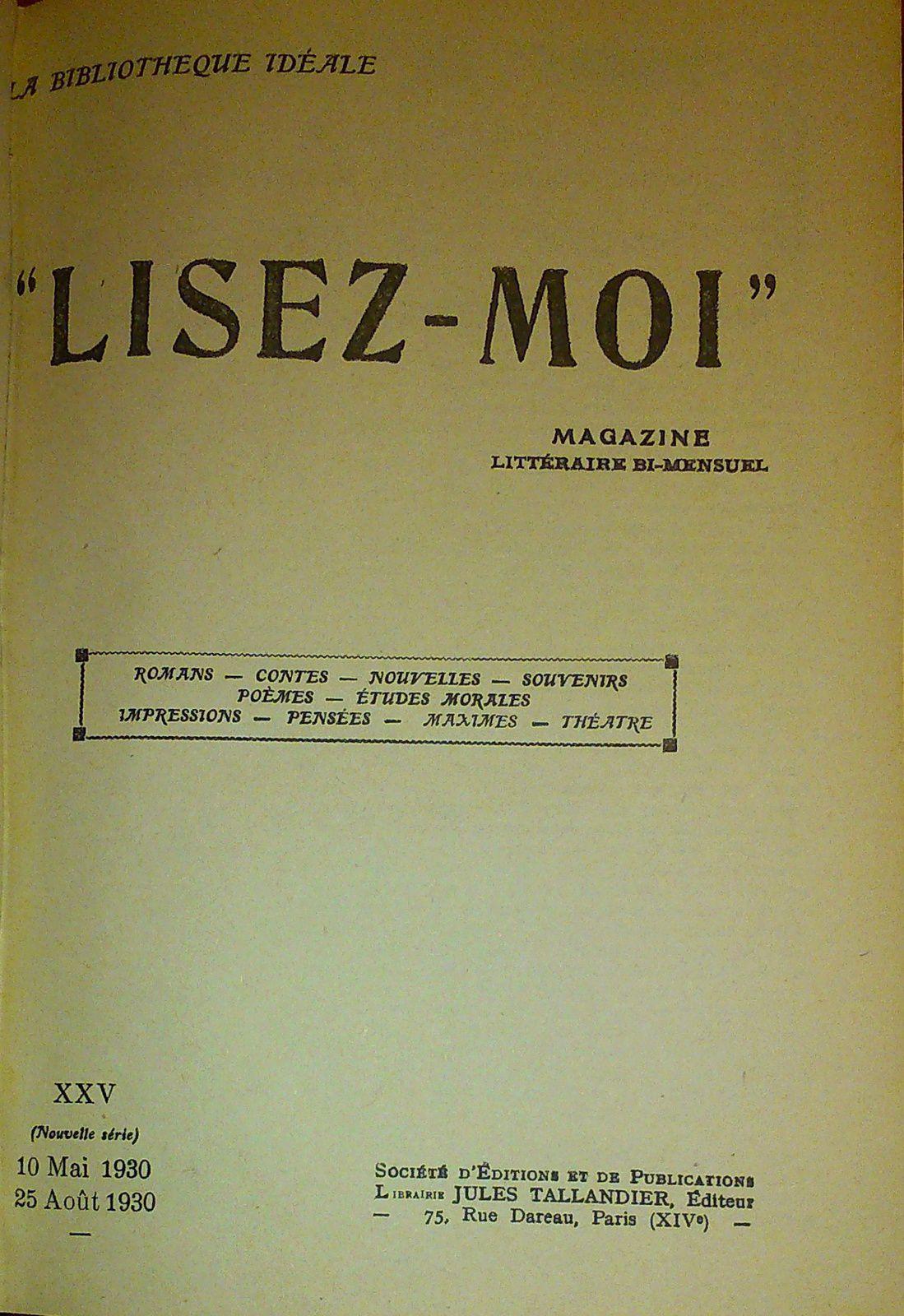 Lisez-Moi (Nouvelle série) - Reliure n°XXIV n°197-208 (1930)