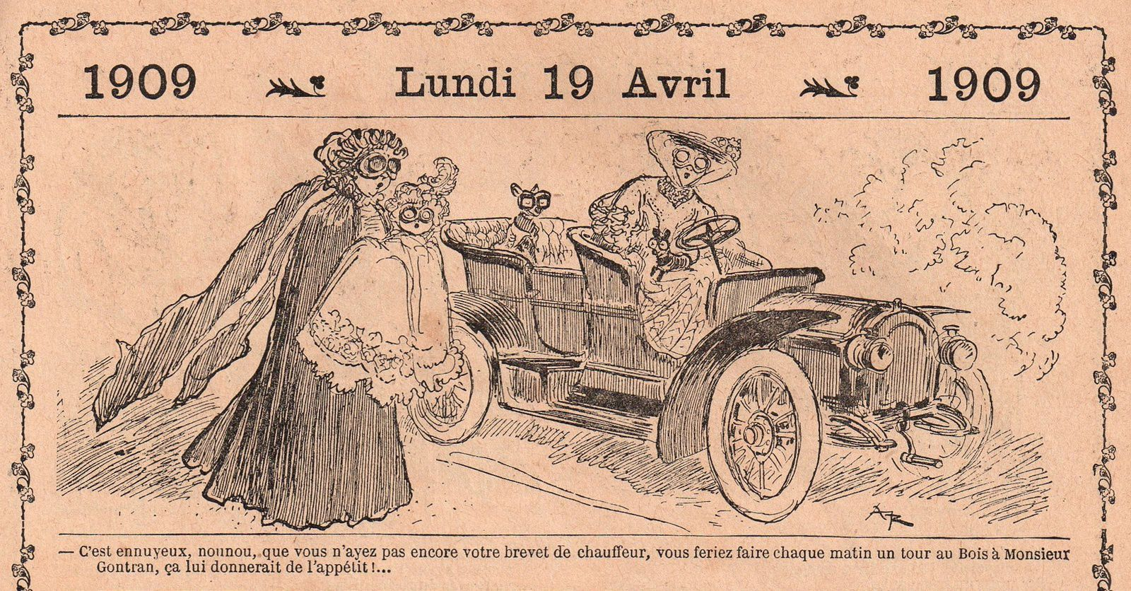 Albert Robida, humour, mode et grosses cylindrées (1909)