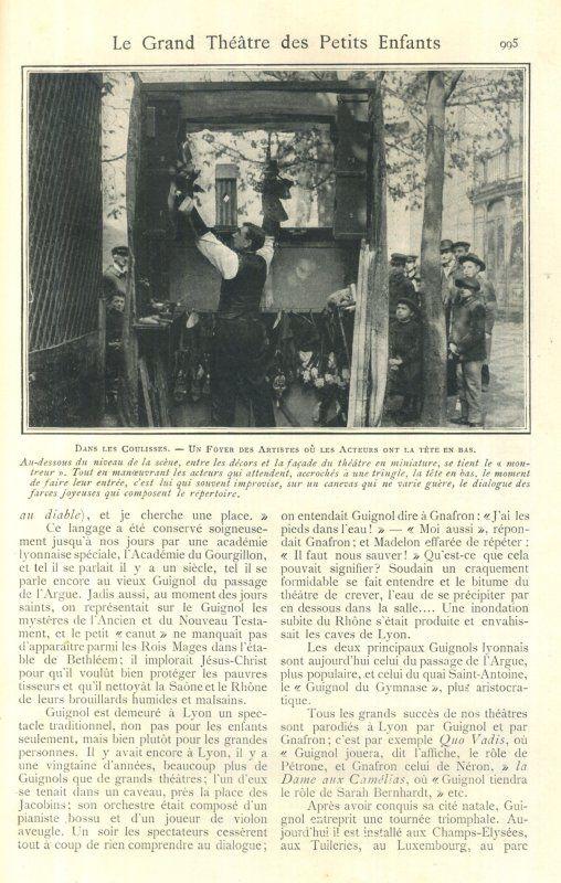 Guignol, la célèbre marionnette de Lyon invitée dans Lectures Pour Tous 1903