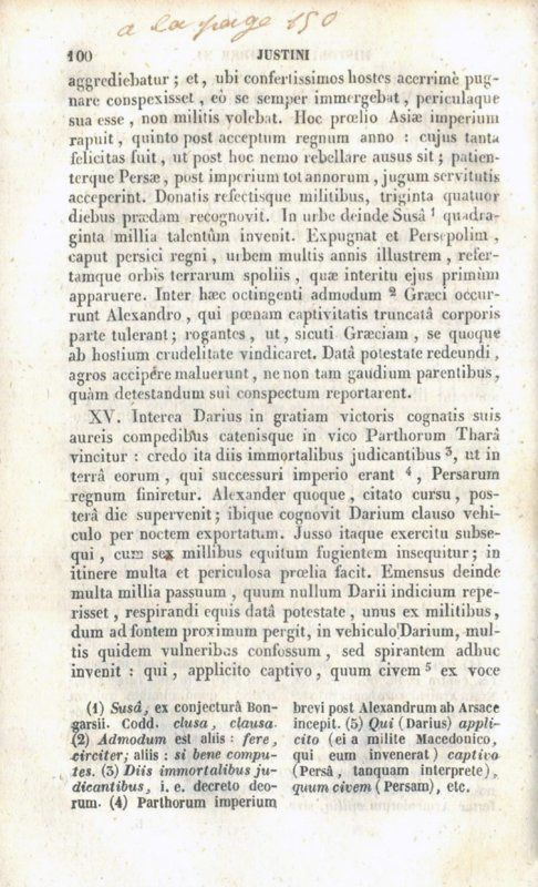 Un potache et Justini, Historiae Philippicae Ad Usum Scholarum, circa 200-1836-1896