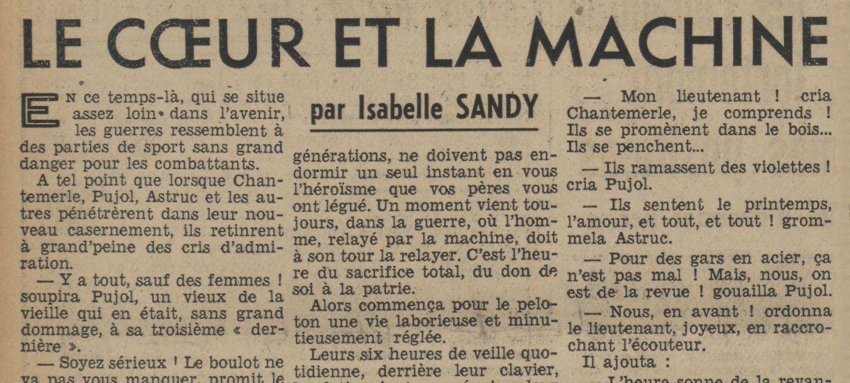 Isabelle Sandy - Le Cœur et la Machine (1940)