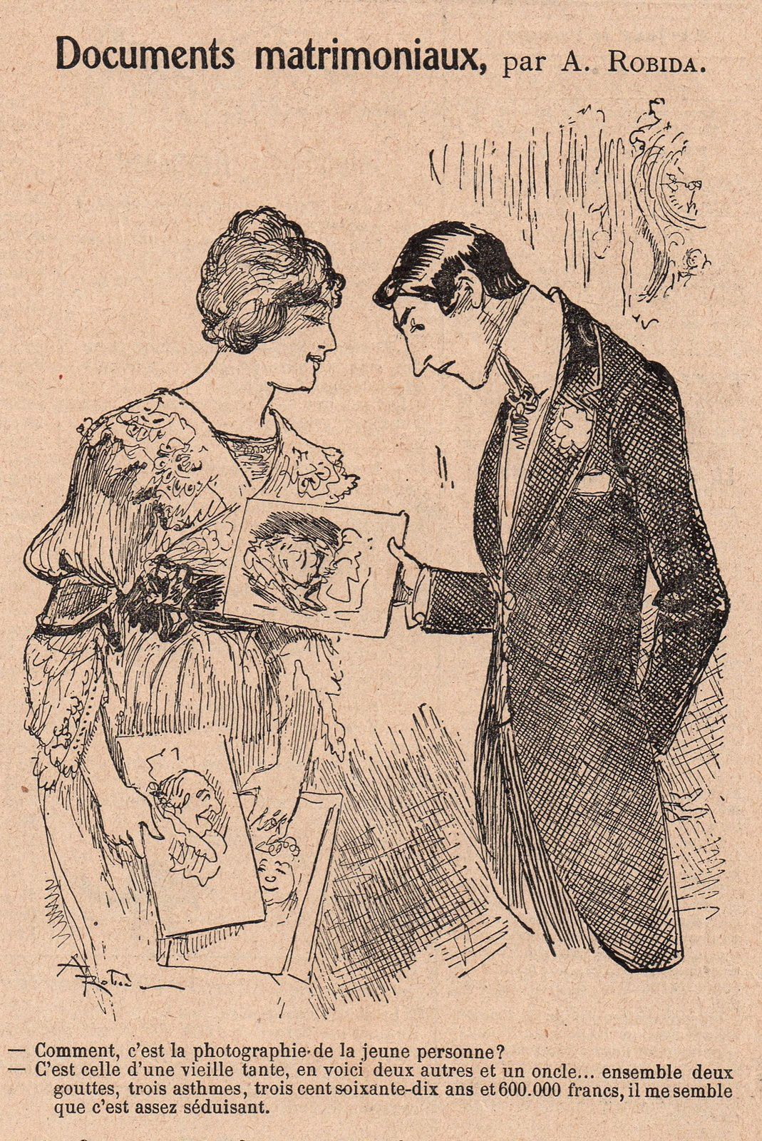 Albert Robida, humour, jalousie, nature, art et commerce (1915)