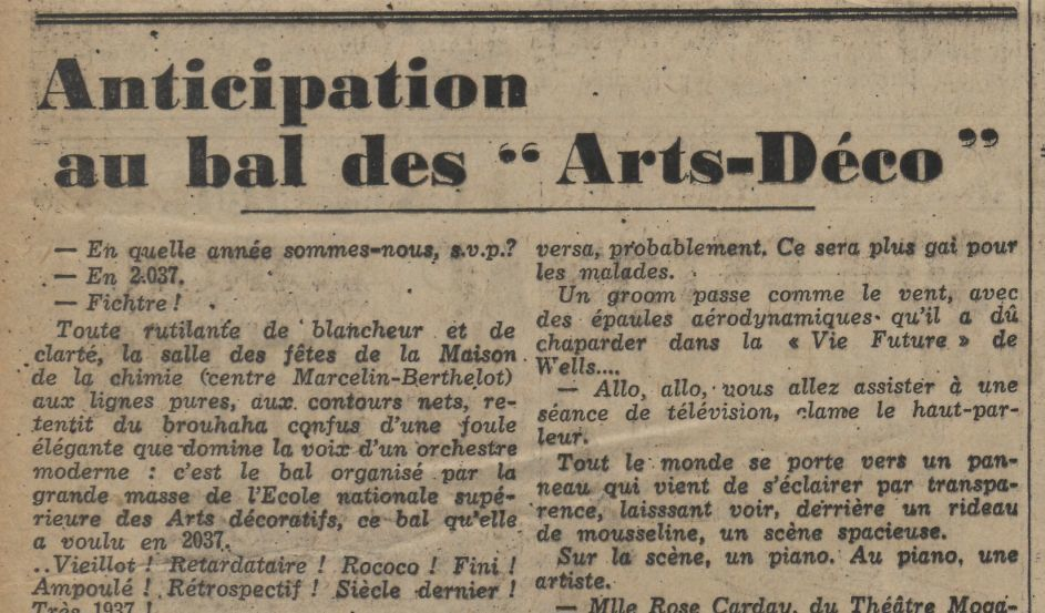 J. B. - Anticipation au bal des « Arts-Déco » (1937)