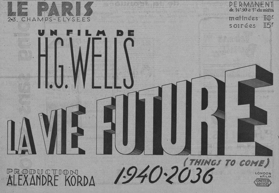 « La Vie Future », de H. G. Wells, une terrifiante anticipation (1936)
