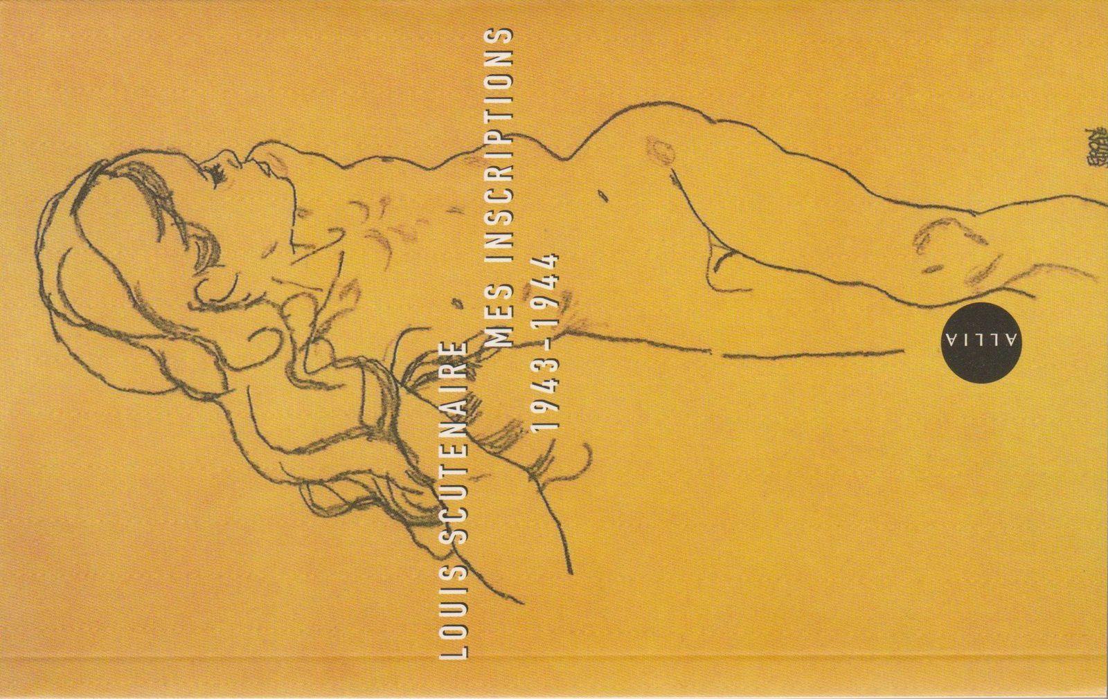 Louis Scutenaire, Mes inscriptions 1943-194, Allia, 2007. Dessin d'Egon Schiele.