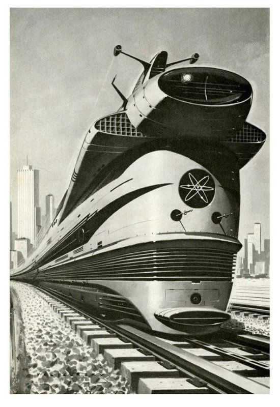 Locomotive atomique, image attribuée à Paul Malon, 1960.