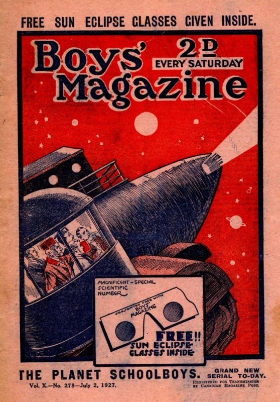 The Planet School Boys n° 1 / 14, Reginald Browne - Allied Newspaper, série Boy's Magazine Issue 278  2nd July 1927