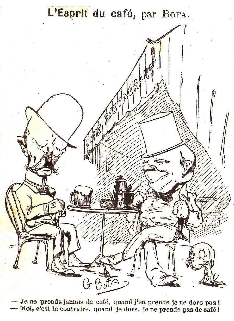 Gus Bofa dans l'Almanach Nodot (1903)