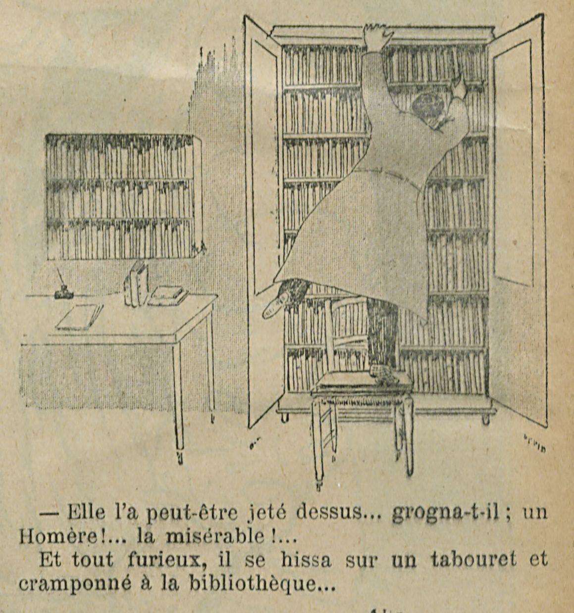"""Bibliomanie, les risques d'une passion : """"Où diable se trouve mon Homère ?"""" (1897)"""