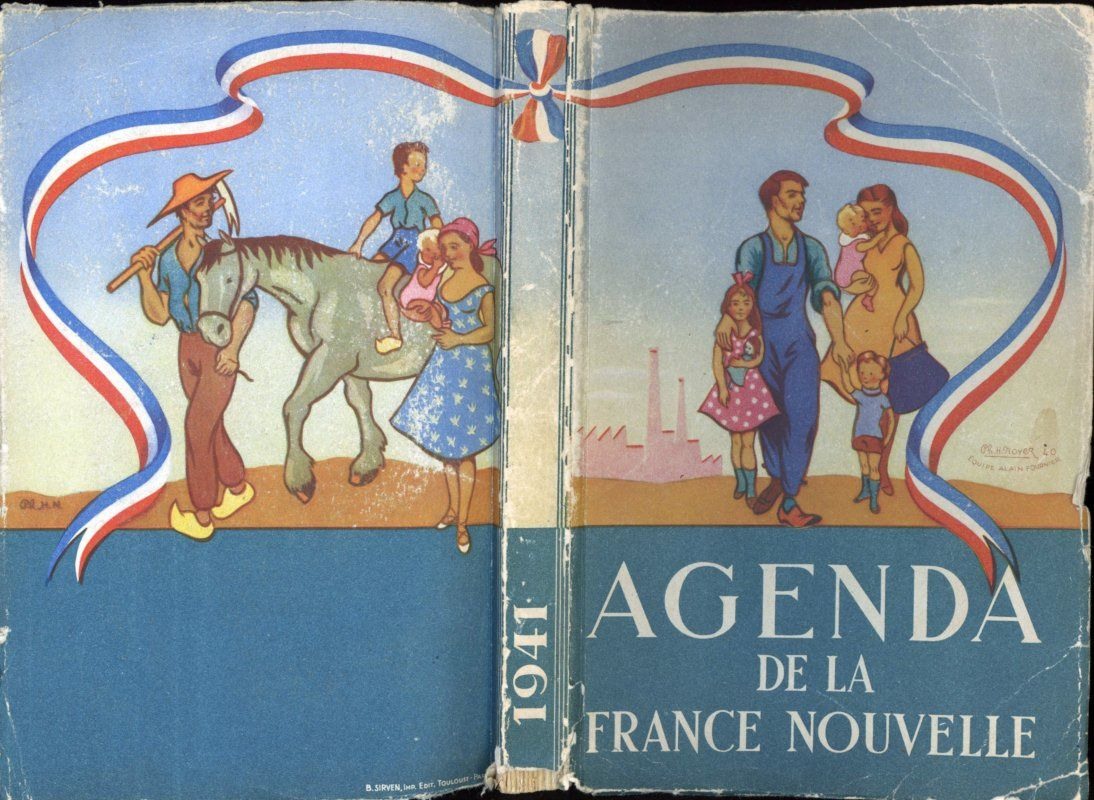 Agenda de la France Nouvelle, 1941 - Editions des services d'information
