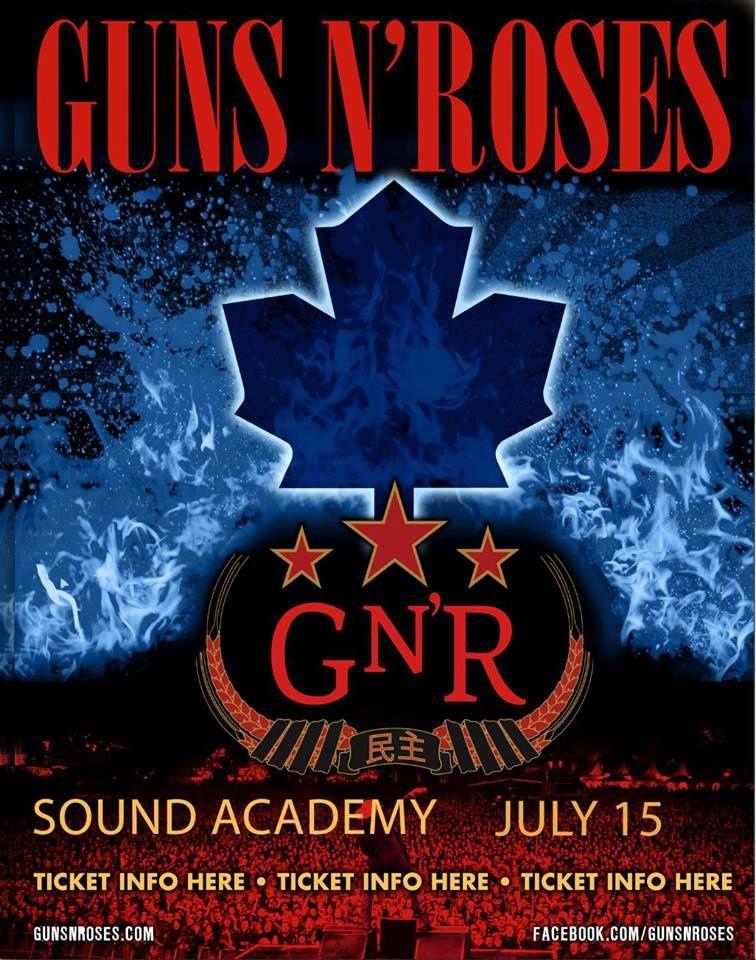 Guns N' Roses en concert à Toronto