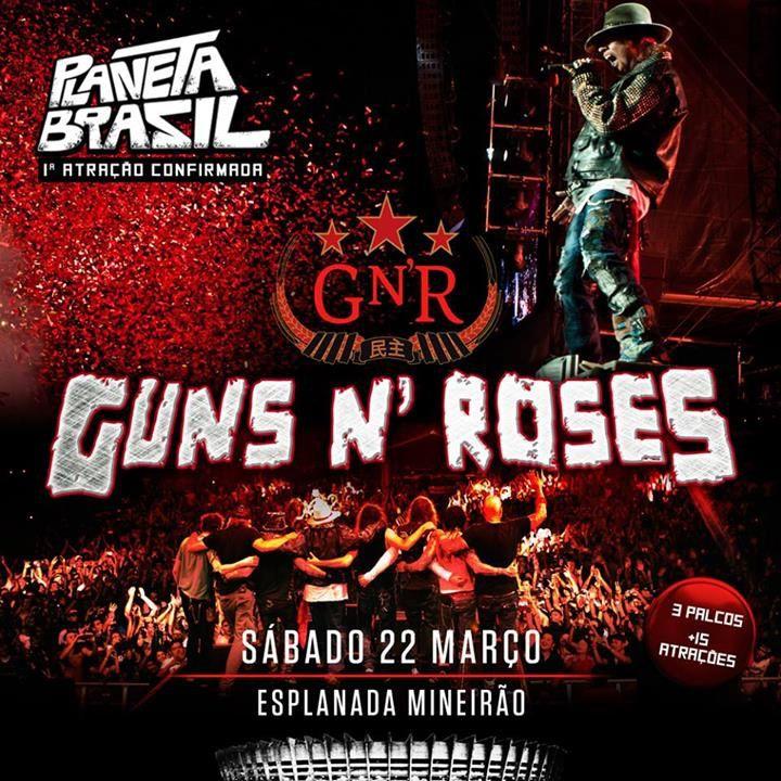 Guns N' Roses met à jour les dates de leur tournée en Amérique Du Sud