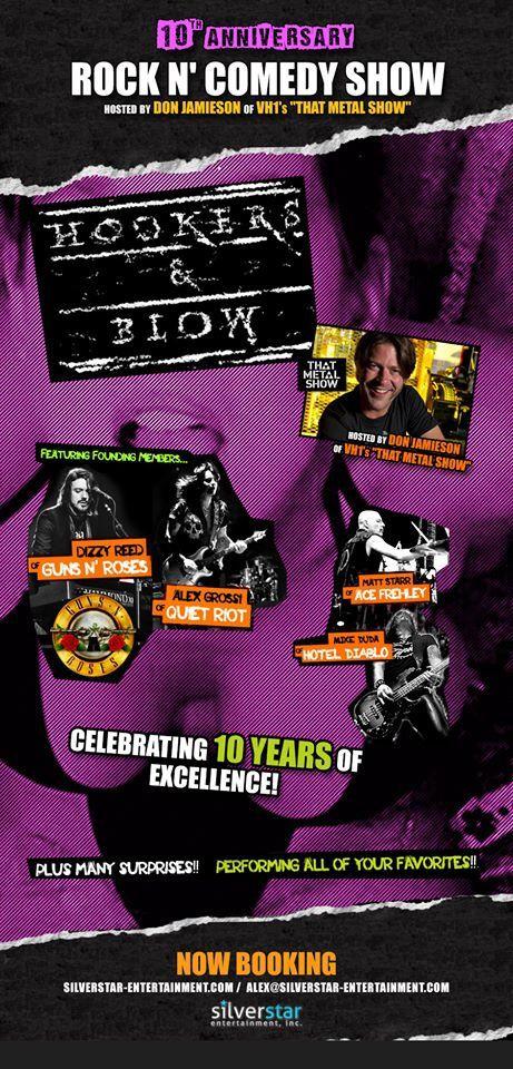 Hookers &amp&#x3B; Blow fête ses 10 ans au Whisky A Go Go