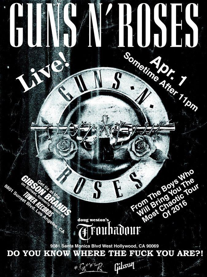 Concert surprise des Guns N' Roses au Troubadour !!!