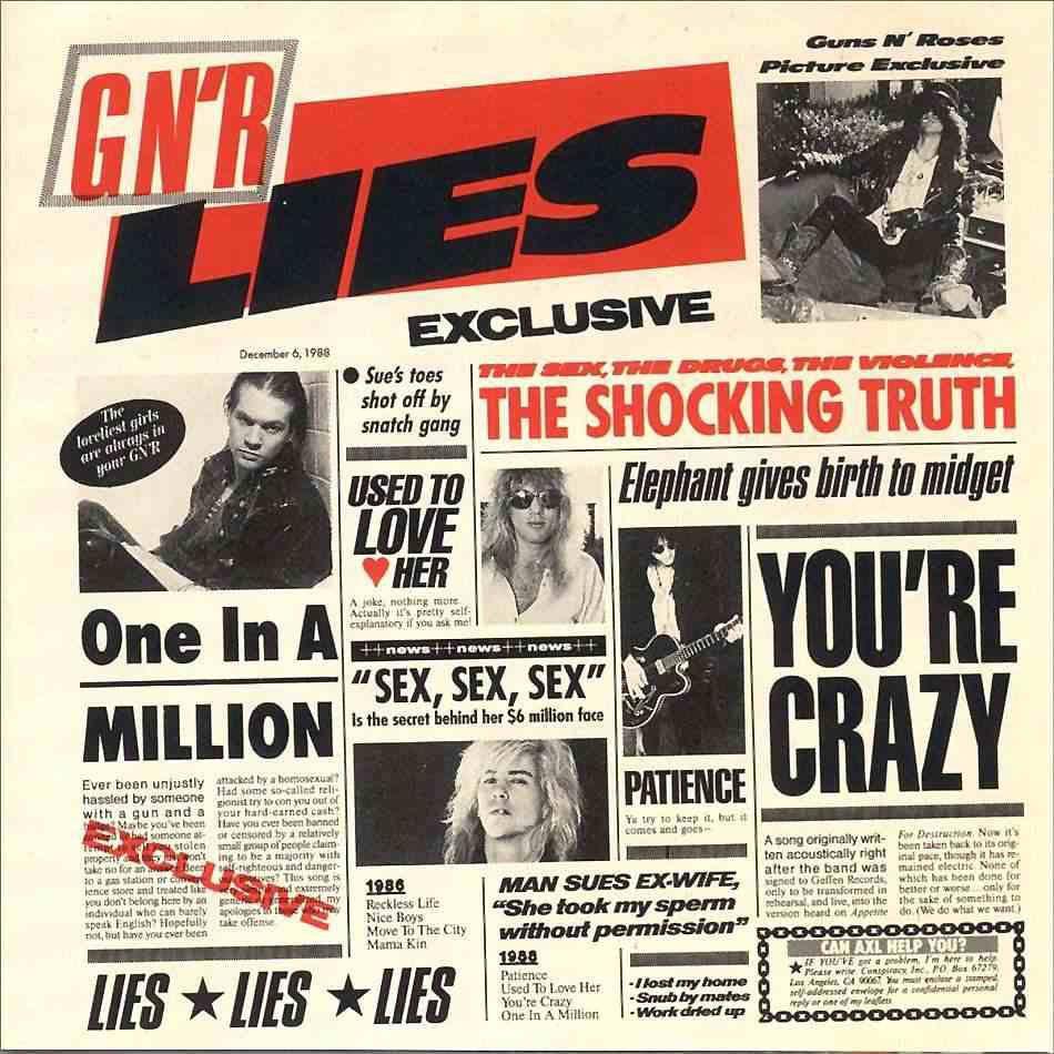 L'album &quot&#x3B;GN'R Lies&quot&#x3B; fête ces 25 Ans !!