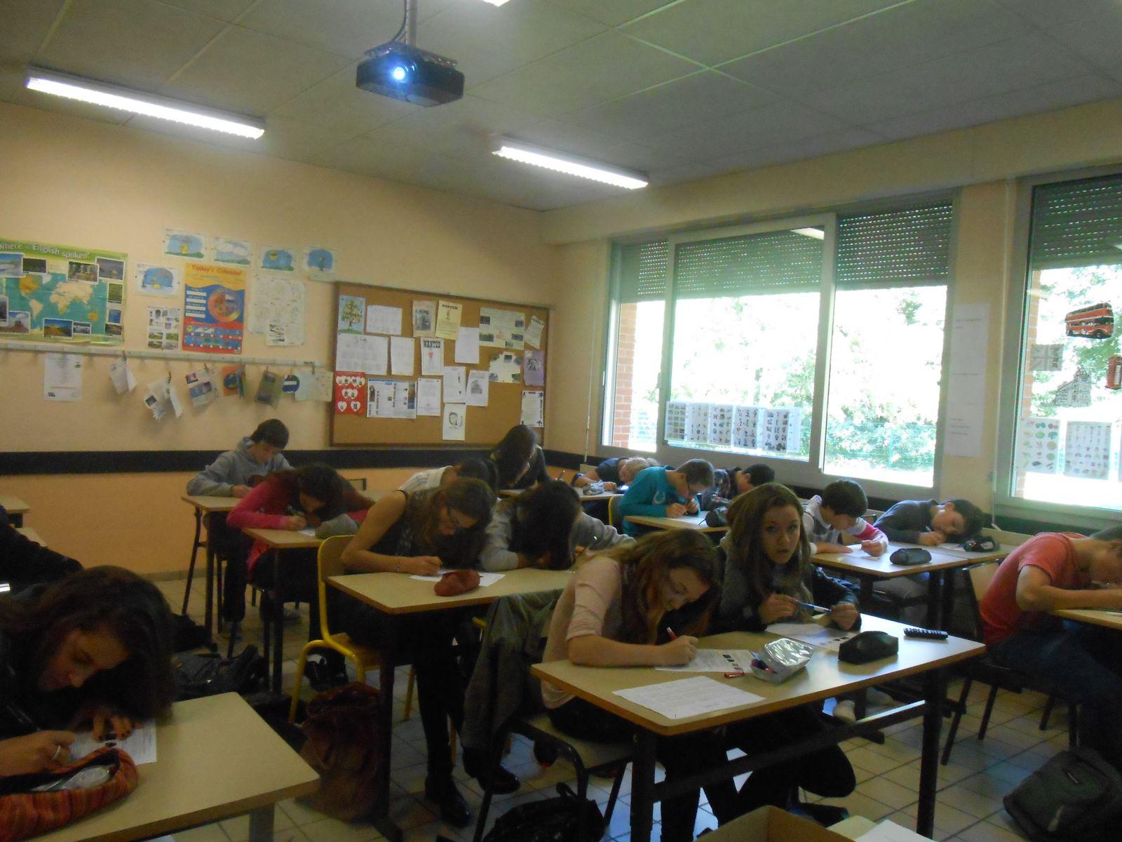 Les élèves de la section euro en plein travail..