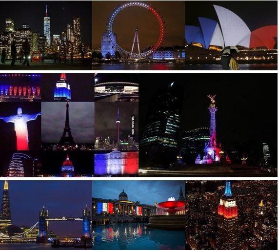 Le monde soutient Paris