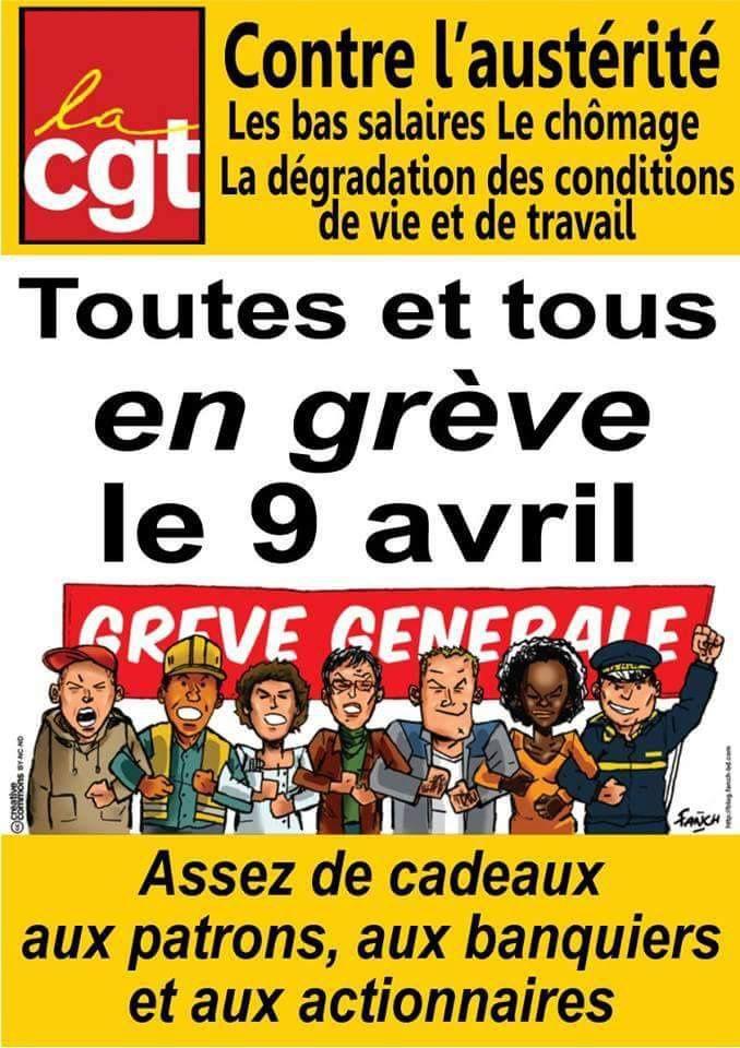 TOUTES ET TOUS EN GRÈVE LE 09 AVRIL