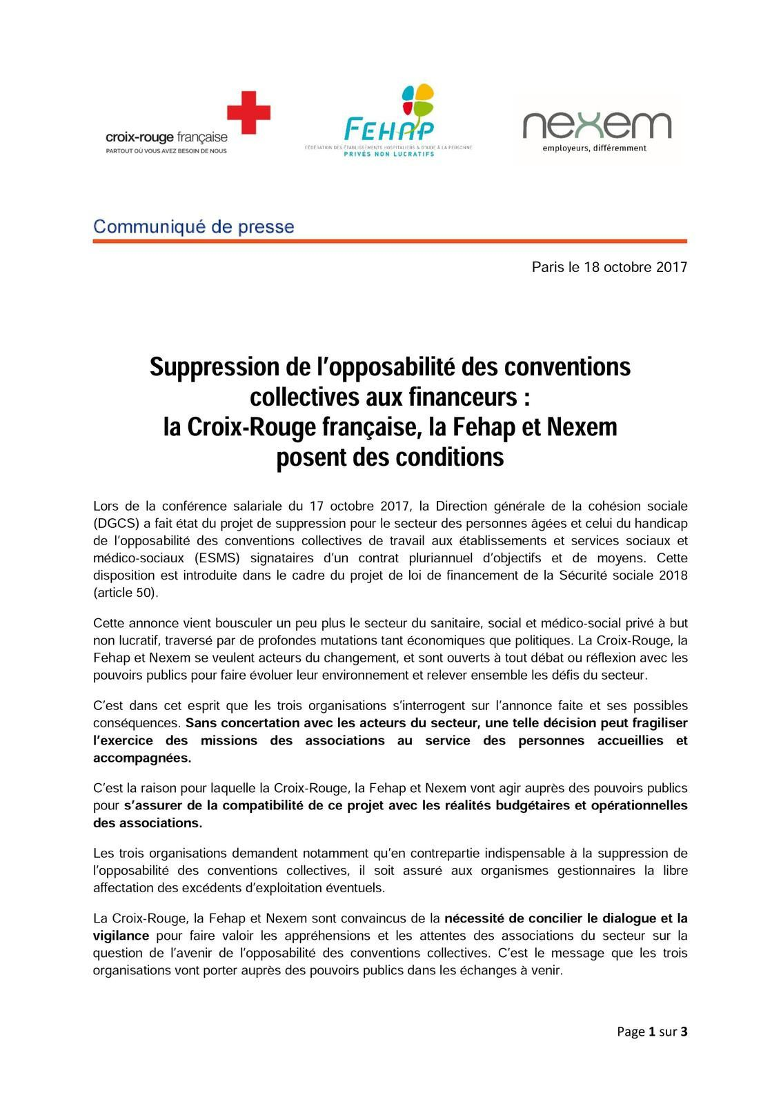 74ca22e432b Suppression de l opposabilité des conventions collectives aux financeurs