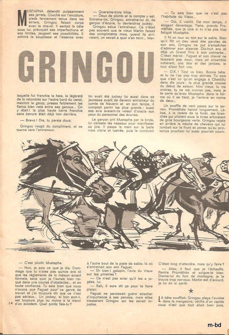gringou est un court recit illustré signé Jean-Paul Benoit pour le texte et Jean-Loup pour l'illustration