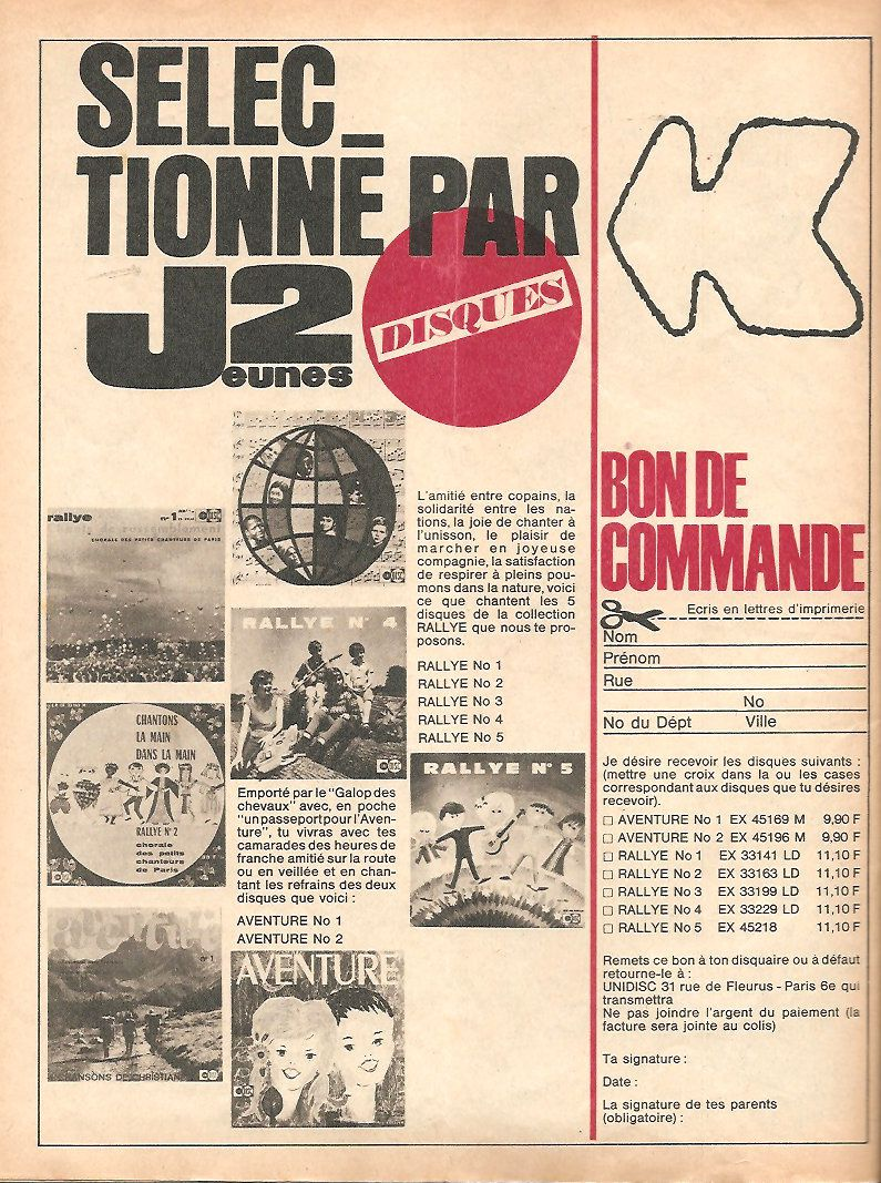 j2 jeunes numéros 52 de 1966