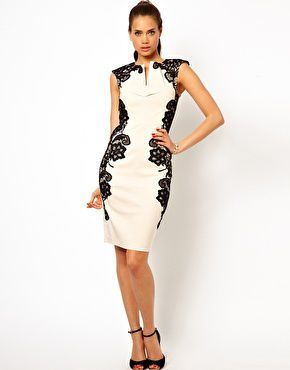 Paper Dolls Mirrored Lace Bodycon Dress 77€ sur ASOS