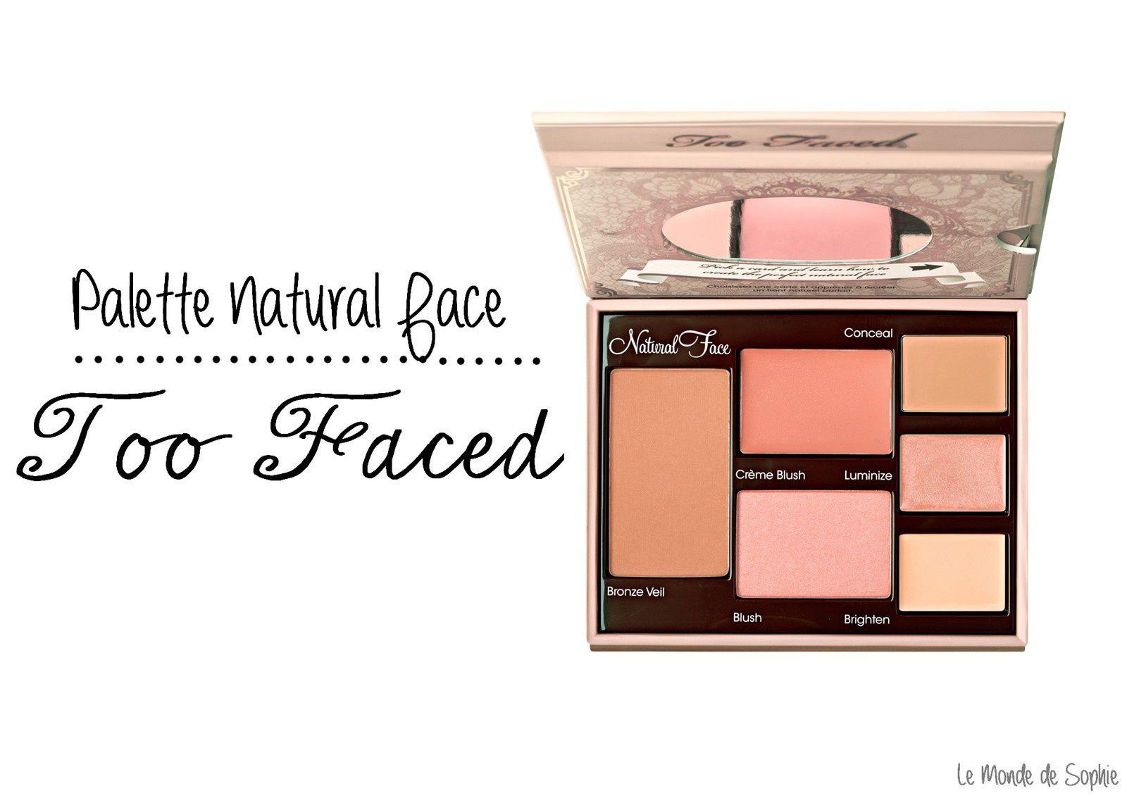 Palette Makeup No Makeup de Too Faced pour un contouring made in US