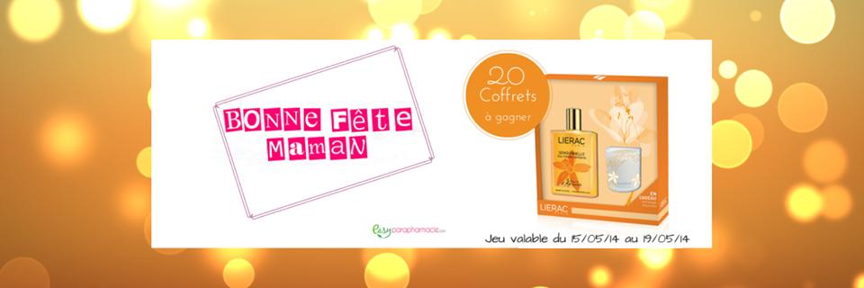 Un joli concours avec le site Easyparapharmacdes coffrets Lierac sensorielle à gagner!