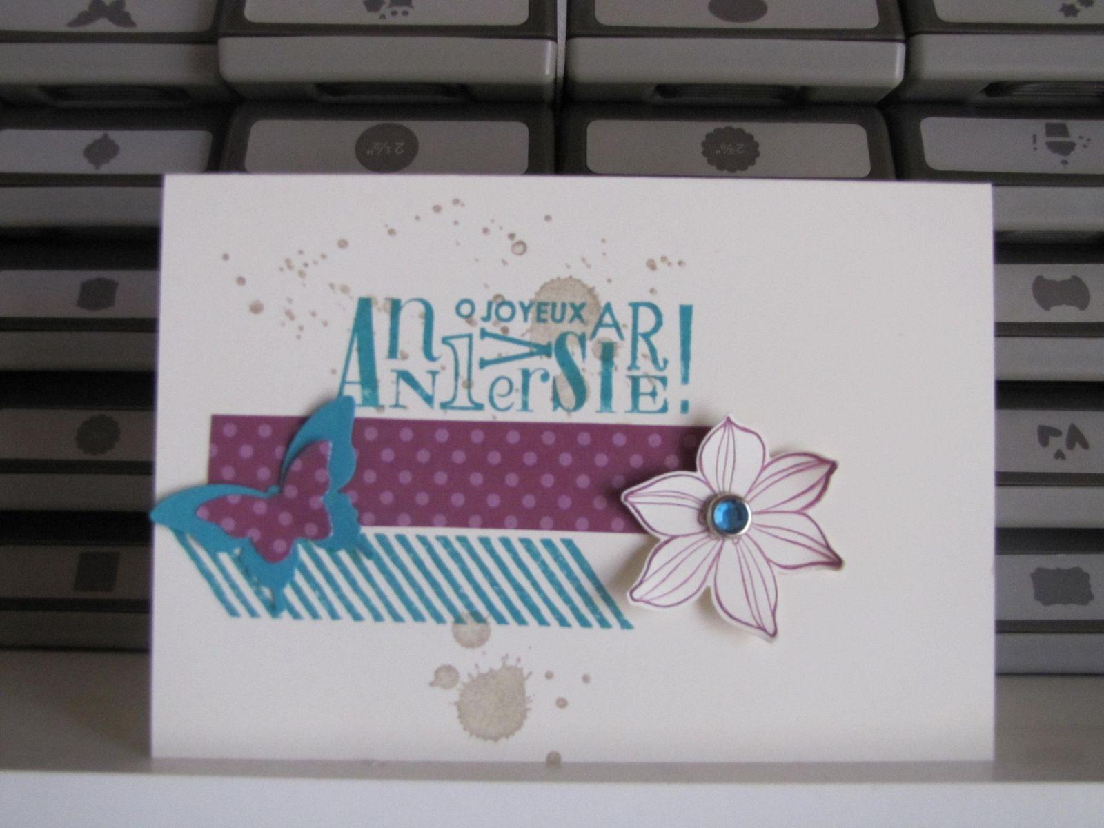 D'autres papillons sur des cartes d'anniversaire