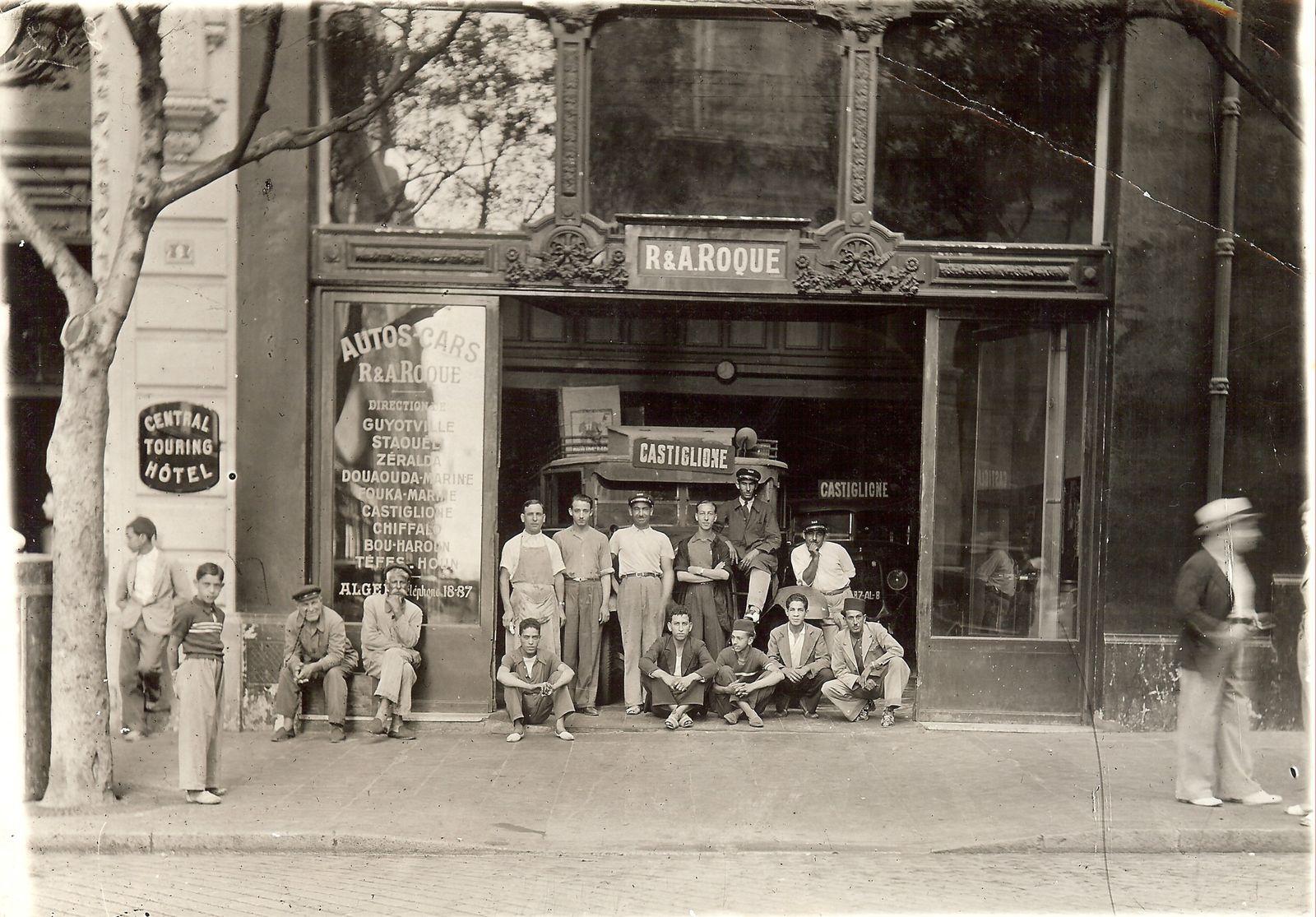 Le 26 juillet 1935 devant le garage d 39 autos cars roque for Garage le corre ceret