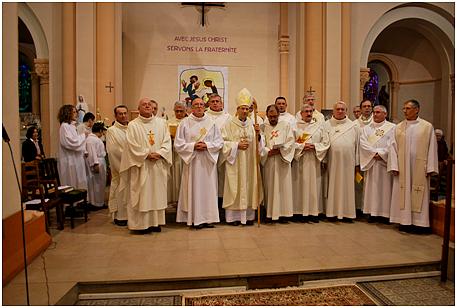 Actuellement le diocèse d'Autun compte 30 diacres permanents (seulement une partie sur la photo).