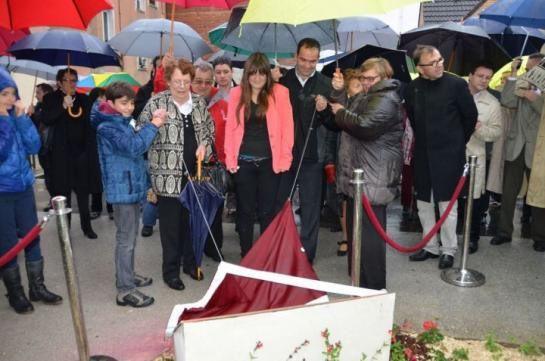 Villejuif, le 30 mai 201 3. Le parvis au nom de Georges Marchais avait été inauguré il y a 18 mois par sa famille à l'initiative de la précédente municipalité (PCF). (LP/Lucile Métout.) LP